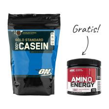 100% Casein (450g) + Amino Energy (90g) GRATIS