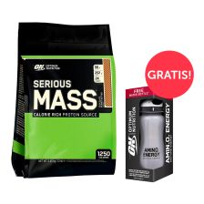 Serious Mass (5600g) + GRATIS Waterbottle Amino Energy Limited Edition (650ml)