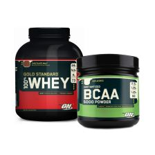 100% Whey Gold (2273g)+BCAA Powder (324g)