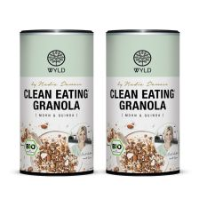 "2 x Bio Clean Eating* Granola Mohn & Quinoa ""by Nadia Damaso"" (350g)"