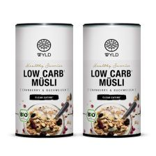 "2 x Bio Low Carb* Müsli Cranberry und Buchweizen ""Healthy Sunrise"" (350g)"