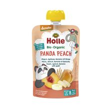Demeter Panda Peach - Pouchy Pfirsich, Aprikose, Banane mit Dinkel, ab dem 8. Monat (100g)