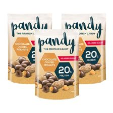 3 x Protein Peanuts Chocolate Coated Peanuts (3x80g)
