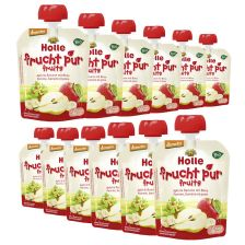 12 x Bio-Pouchy ab dem 6. Monat Apfel & Banane mit Birne (12x90g)