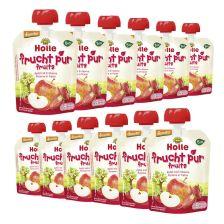 12 x Bio-Pouchy ab dem 8. Monat Apfel mit Erdbeere (12x90g)