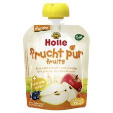 鸿乐有机梨、苹果、蓝莓加燕麦奶昔6个月起 90g  Bio-Pouchy  Birne, Apfel