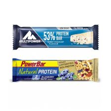 Multipower 53% Protein Bar (24x50g) + PowerBar Natural Protein (24x40g)