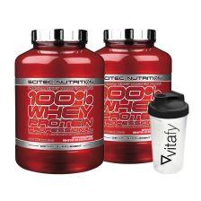 2 x 100% Whey Protein Professional (2350g) + 1 x Vitafy Shaker (600ml)