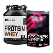 Optimum Nutrition Protein Whey (1700g) + ESN Designer Whey (1000g)
