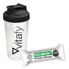 4 x Protein-Riegel (4x60g) + Vitafy Shaker (600ml)