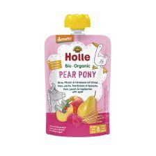 Demeter Pear Pony - Pouchy Birne, Pfirsich & Himbeere mit Dinkel, ab dem 8. Monat (100g)