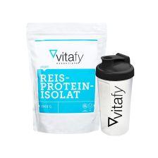 Reisproteinisolat (1000g) + GRATIS Vitafy Shaker (600ml)