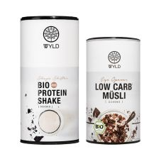 """Bio Low Carb* Müsli Schoko """"Eye Opener"""" (350g) + Bio Protein Shape Shifter Schokolade (450g)"""
