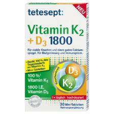 Vitamin K2 + D3 1800 (30 Tabletten)