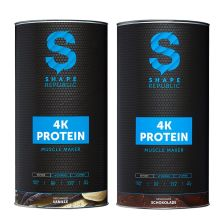 2 x 4-Komponenten Protein Muscle Maker Vanille + Schoko (2x600g)