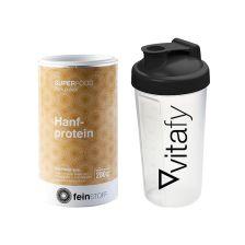 Superfood Hanfprotein-Pulver (280g) + GRATIS Vitafy Shaker (600ml)