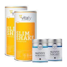 2 x Slim Shake (2x500g) + Teatox Skinny Teatox bio 14 Tage Programm (50g+60g)