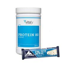 53% Protein Bar (24x50g) + Protein 80 (500g)