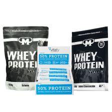 50% Protein Riegel (12x45g) + 2 x Mammut Whey Protein (2x1000g)