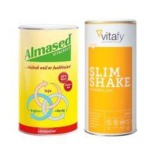 Vitalkost Laktosefrei Pulver Almased (500g) + Vitafy Essentials Slim Shake (500g)