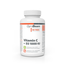 Vitamin C + D3 1000 IU (90 Tabletten)