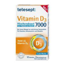 Vitamin D3 7000 Wochendepot (12 Tabletten)