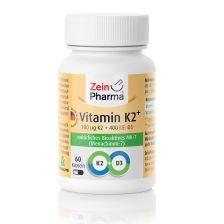 Vitamin K2 MK-7 100µg + Vitamin D3 400 I.E. (60 Kapseln)