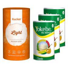 3 x Yokebe Classic Pulver (3x480g) + Xucker Light europ. Erythrit (1000g)