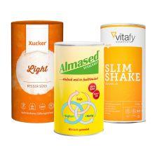 Almased Vitalkost Pulver (500g) + Xucker light europ. Erythrit (1000g) + Vitafy Essentials Slim Shake (500g)