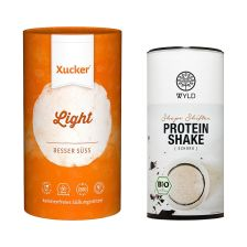 Bio Protein Shape Shifter Schokolade (450g) + Xucker light europ. Erythrit (1000g)