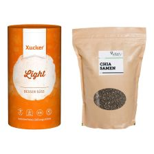 Xucker light (1000g) + Vitafy Essentials Chia Samen (1000g)