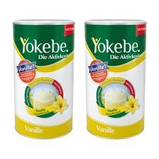 2 x Yokebe Aktivkost Vanille Pulver Lactosefrei (2x500g)