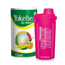 Yokebe Classic Pulver (480g) + Shaker Pink