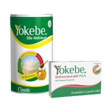 1 x Yokebe Classic Pulver (480g) + 1 x Stoffwechsel aktiv Plus (28 Kapseln)