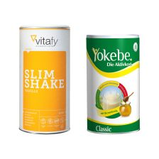 Yokebe Classic Pulver (480g) + Vitafy Essentials Slim Shake (500g)