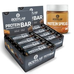 2 x Crispy Protein Bar (2x12x65g) + Protein Spread Salted Caramel Cocoa (250g)
