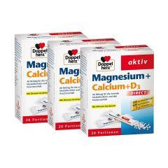 3 x Magnesium + Calcium + D3 Direct (3x20 Portionen)