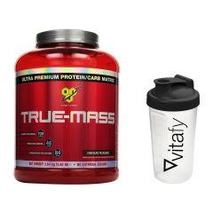 BSN True Mass (2640g) + Vitafy Essentials Shaker (600ml)