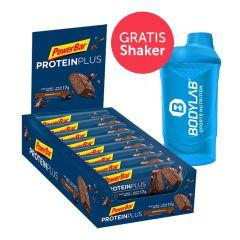 PowerBar Protein Plus 30% (15x55g) + Bodylab 24 Shaker gratis