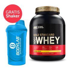 100% Whey Gold Standard (2273g) + Bodylab 24 Shaker gratis