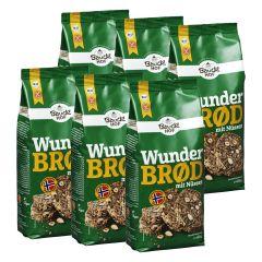 6 x Bio Backmischung Wunderbrød mit Nüssen (6x600g)