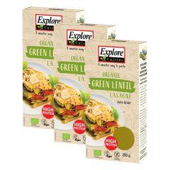 3 x Lasagne aus grünen Linsen bio (3x250g)