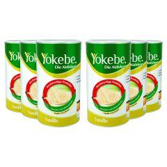 6 x Yokebe Aktivkost Vanille Pulver Lactosefrei (6x500g)
