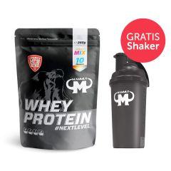 Whey Protein Mixed Beutel (10x25g) + GRATIS Mammut Shaker (700ml)