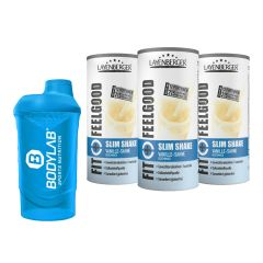 3 x Fit+Feelgood Mahlzeitersatz SLIM (3x396g) + Bodylab 24 Shaker gratis!