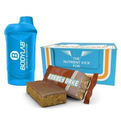 Energy Cake Riegel (24x125g) + Bodylab 24 Shaker gratis