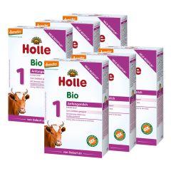 6x Holle Bio-Anfangsmilch 1, von Geburt an (6x400g)
