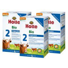 3x Holle Bio-Folgemilch 2 nach dem 6. Monat (3x600g)