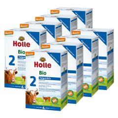 8x Holle Bio-Folgemilch 2 nach dem 6. Monat (8x600g)