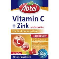 Vitamin C + Zink (30 Lutschtabletten)